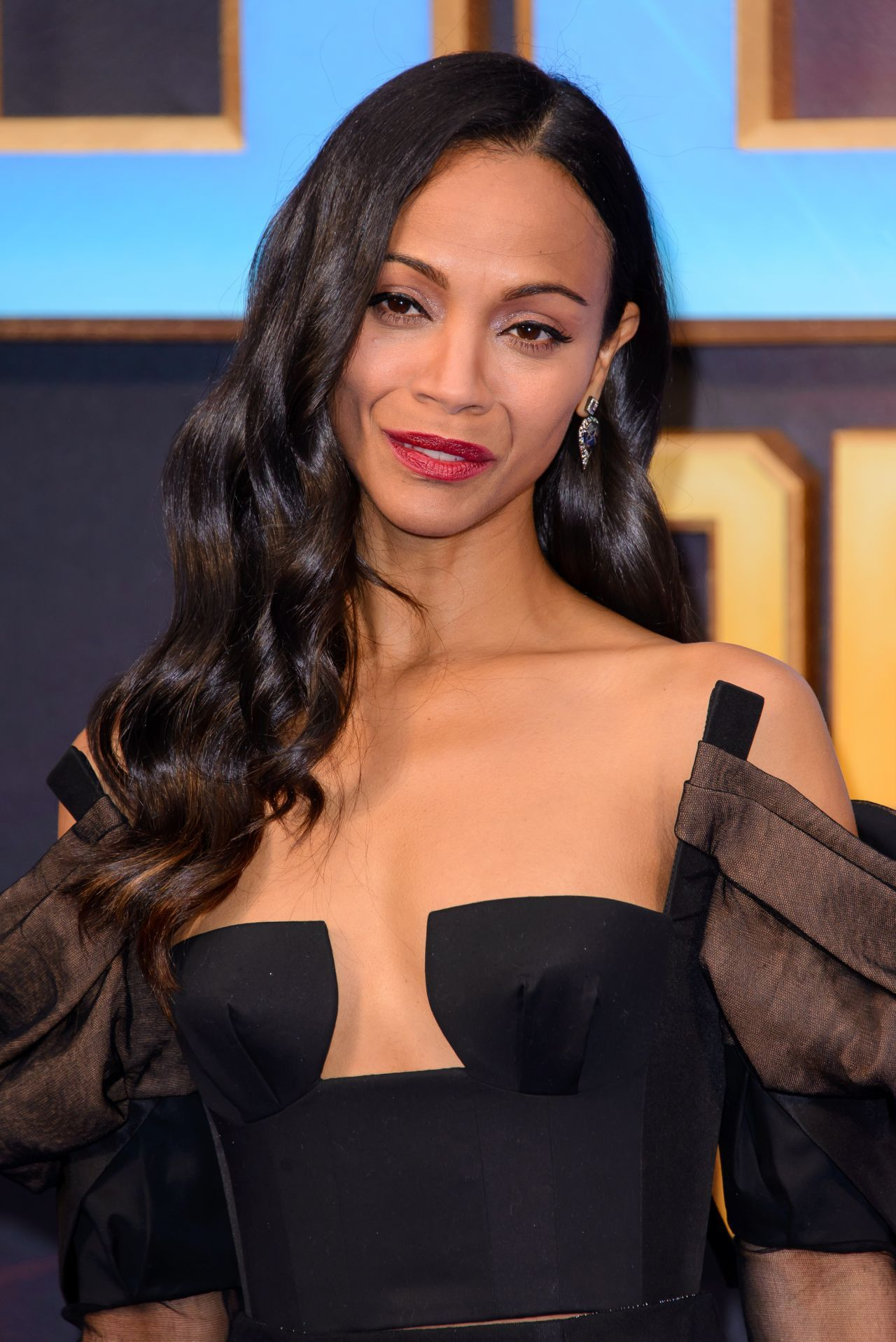 zoe saldana | Zoe Saldana at Guardians of the Galaxy Vol.2 ...