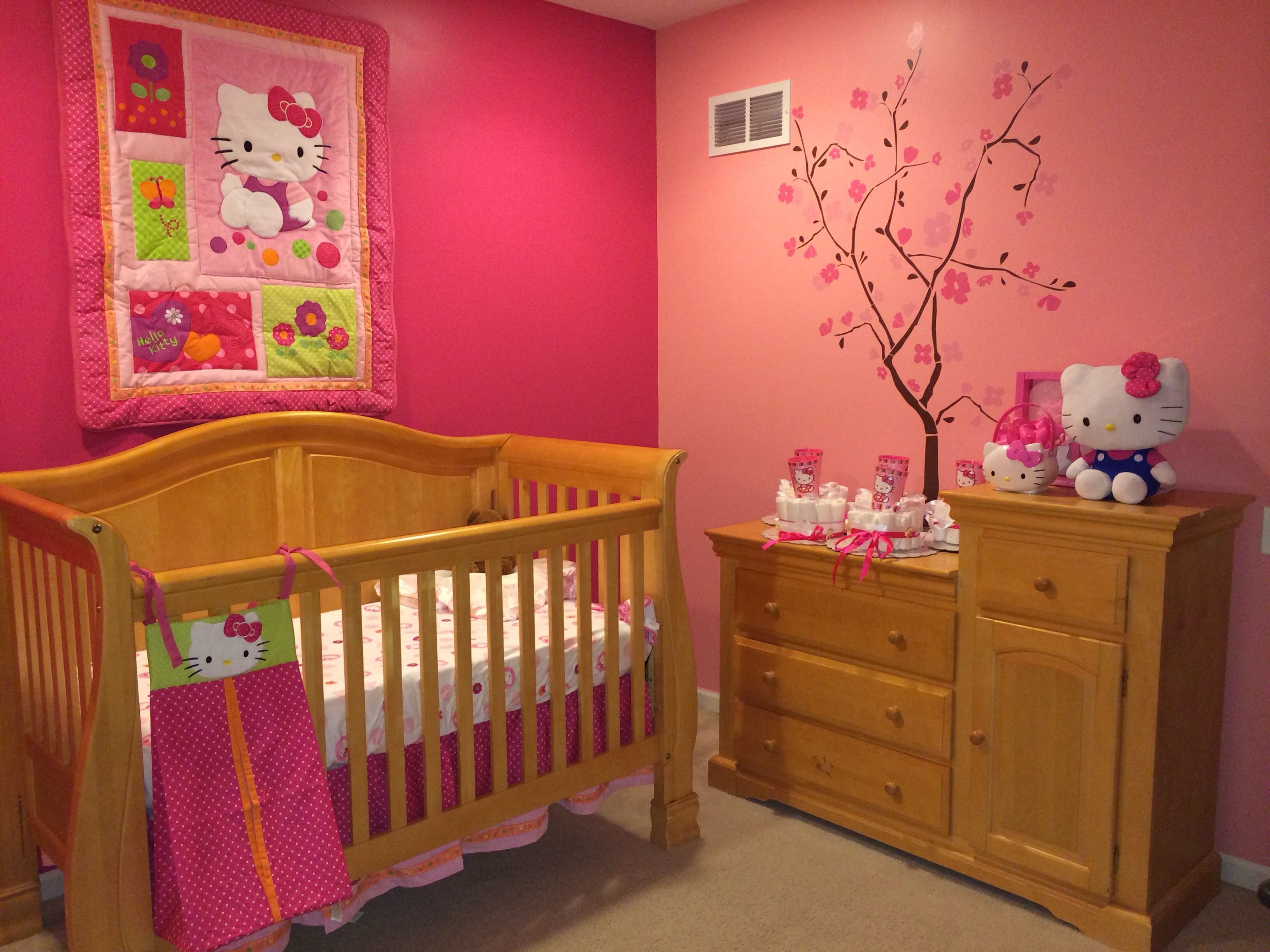 Bedrooms for girls hello kitty - Hello Kitty Baby Room