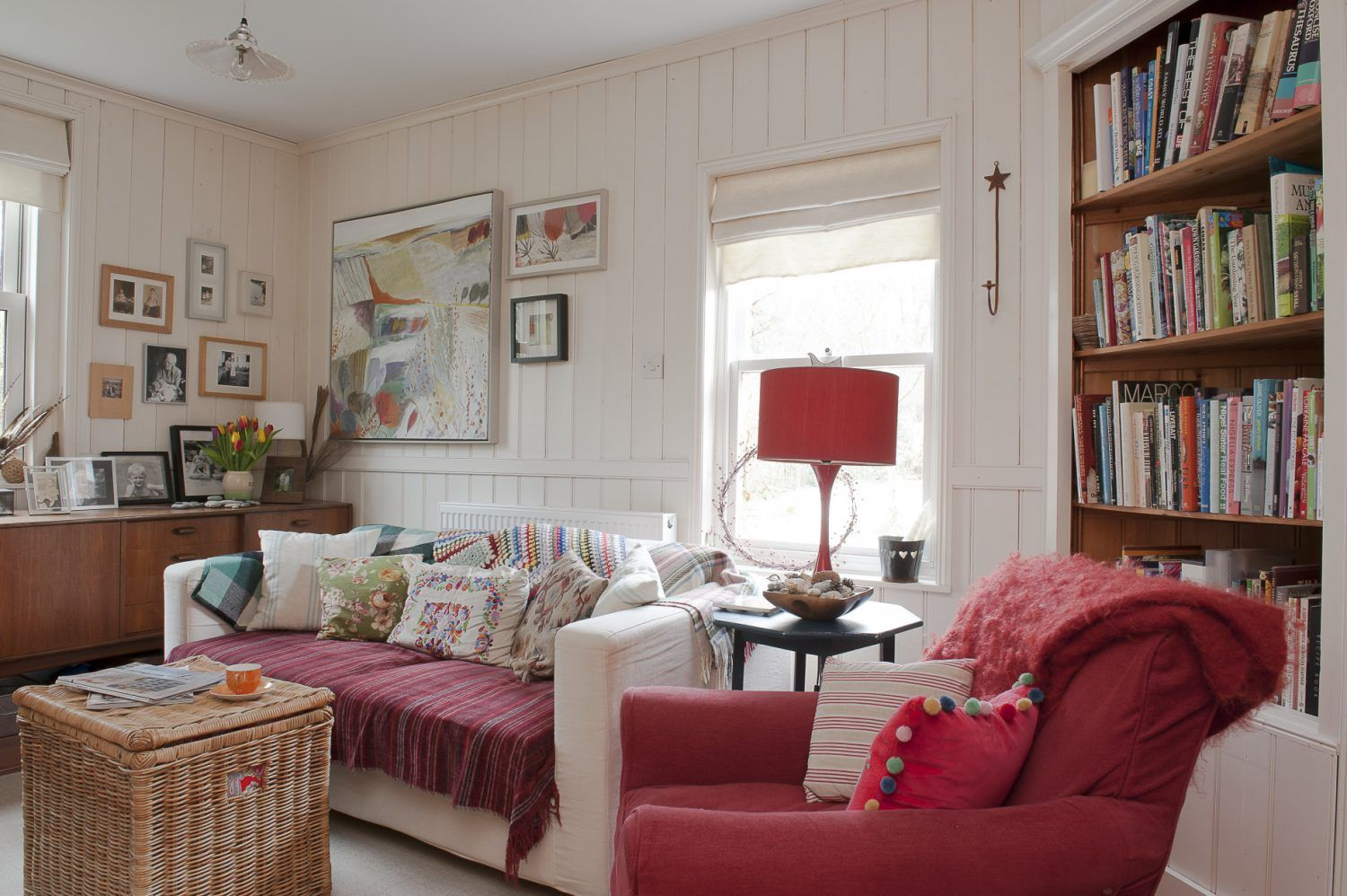 Next door to the drawing room is a wood-panelled snug that ...
