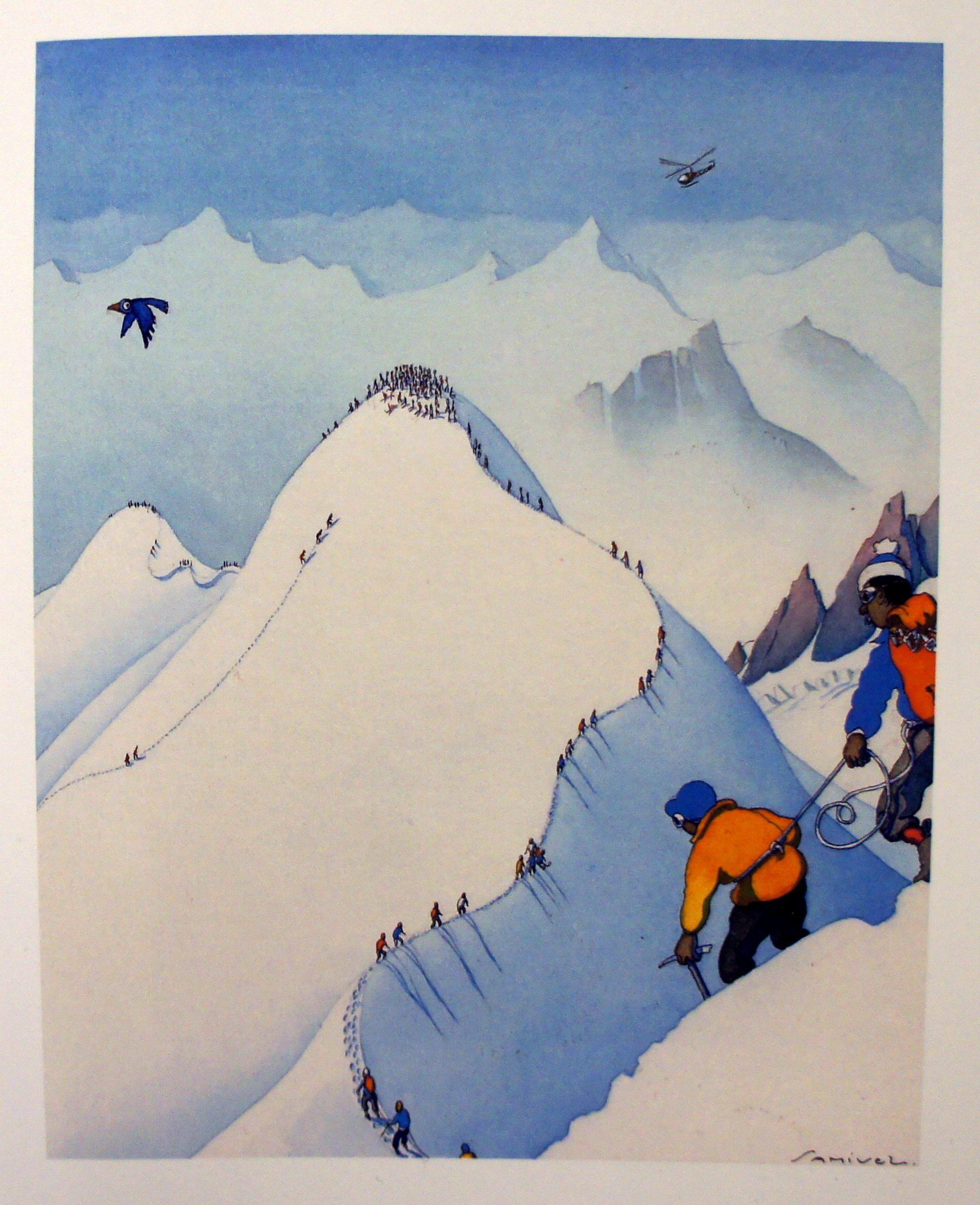 Samivel Un Artiste Des Montagnes Dessin Ski Carte Neige
