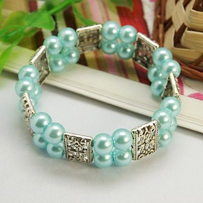 Fashion Glass Pearl Bracelets