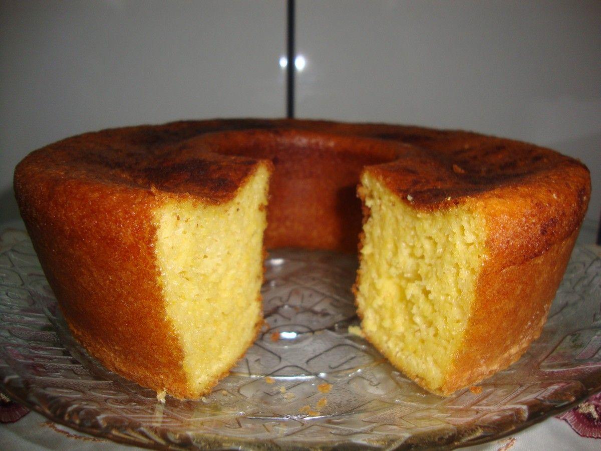 Bolo De Farinha De Milho Receita Com Imagens Bolo De Farinha