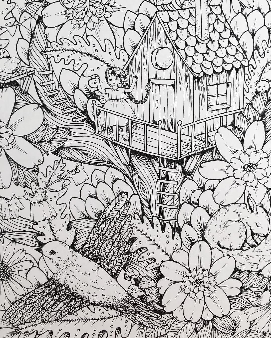 543 Likes 32 Comments Maria Trolle Maria Trolle On Instagram Picture From My Upcoming Coloringbook Vi Christian Coloring Coloring Books Coloring Pages
