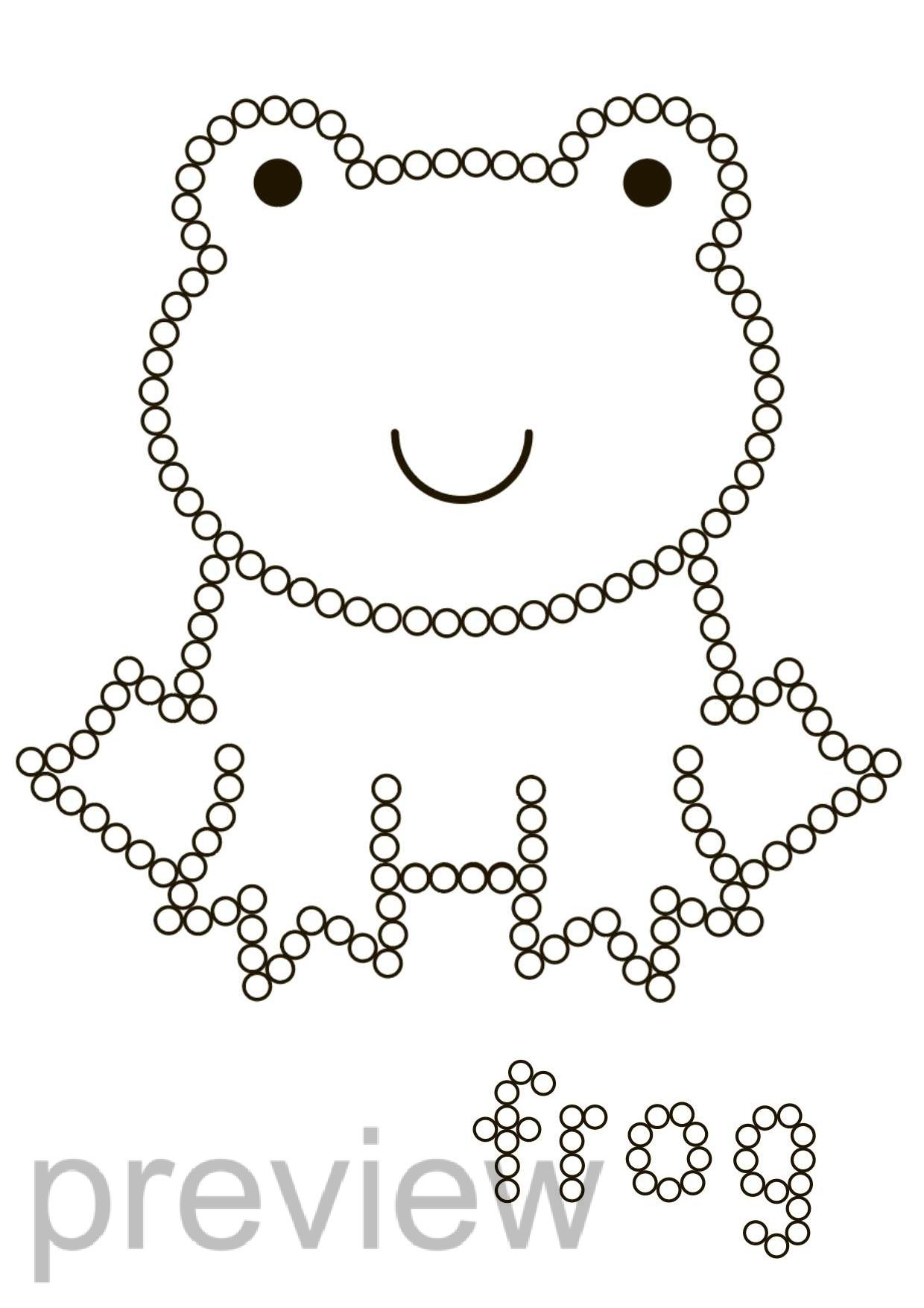 Q Tip Fine Motor Animals Dot Painting Worksheets In