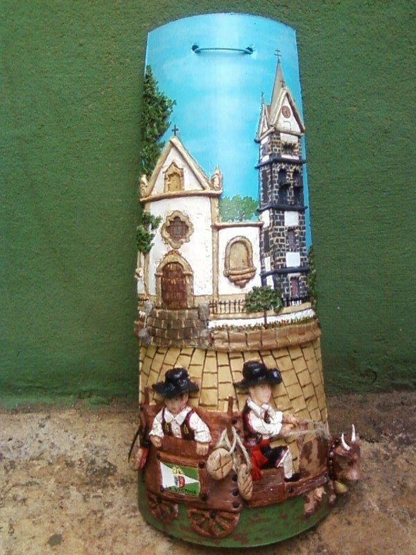 Varias tejas decoradas tejas decoradas decorated tiles pintar tejidos y pintura decorativa - Pintar tejas de barro ...