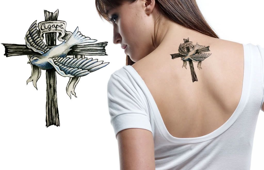 over my back tat