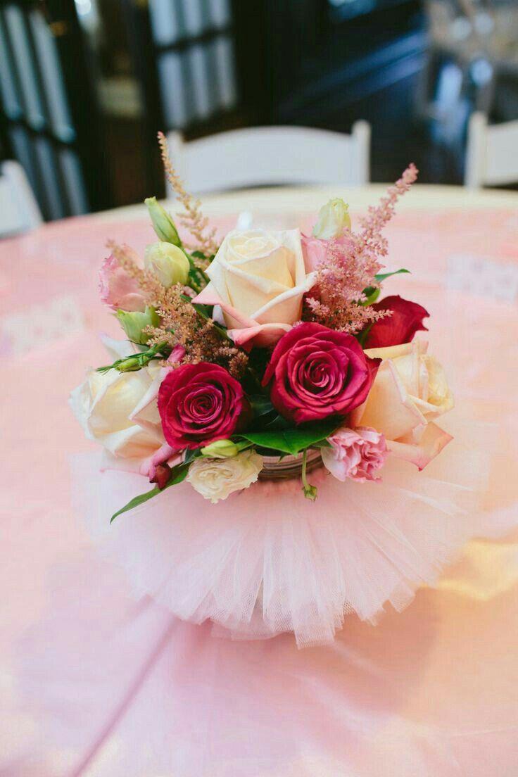 Centros De Mesa Rosas Ideas Para Fiestas Pinterest Centros  ~ Centros De Flores Naturales Para Mesas