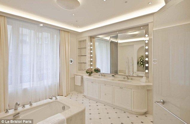 Magnificent: The large, spa-style bathroom in the Imperial Suite
