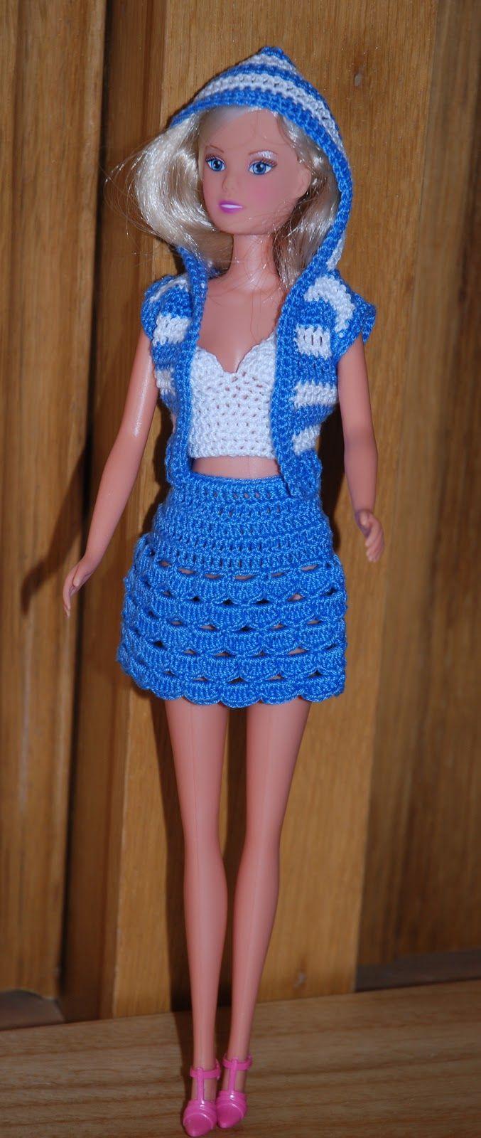 Roupinhas de Crochet para a Barbie   muñecas   Pinterest   Muñecas ...