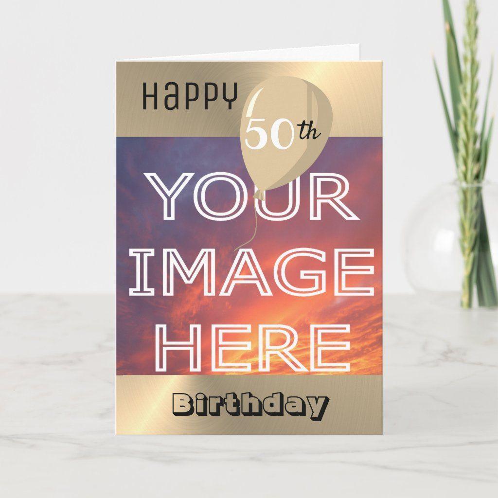 Personalised Photo Upload Birthday Card Zazzle Com Custom Photo Cards Birthday Cards Photo Cards Diy