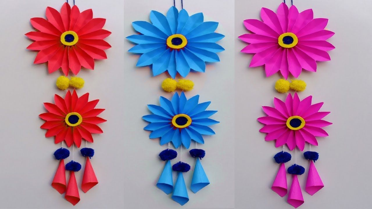 Wall Hanging Craft Ideas Simple And Beautiful Paper Flower Wall