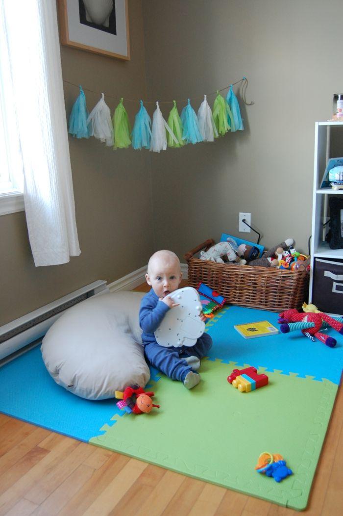 Charmant Wohnzimmer Einrichten Kinderfreundlich Spielecke Kinderteppich Baby