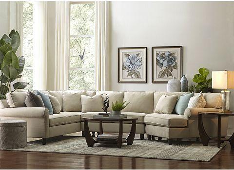 Nice sectional sofa with botanical prints : havertys sectional sofas - Sectionals, Sofas & Couches