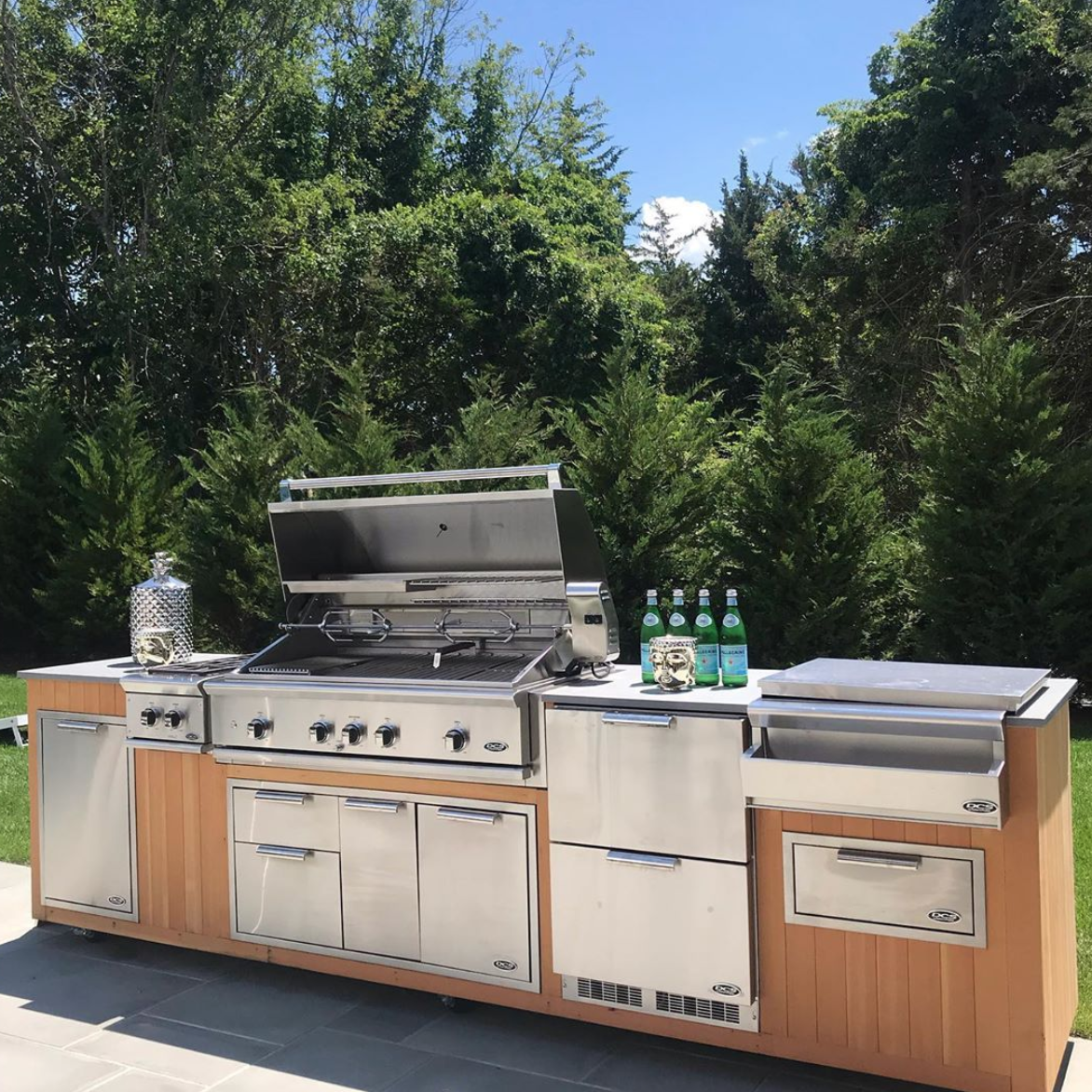 Dcs Dcsop10f3 48 Inch Built In Grill Package Natural Gas W Rotisserie And Charcoal Outdoor Kitchen Outdoor Kitchen Appliances Built In Grill