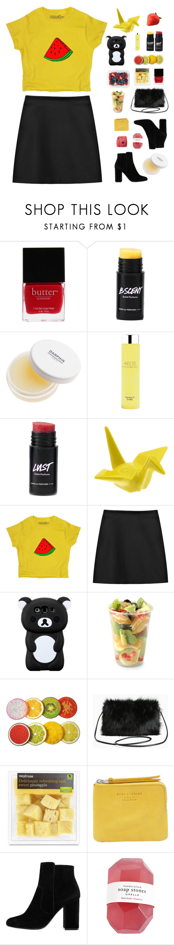 """bae"" by ishipbullshit ❤ liked on Polyvore featuring Butter London, Darphin, AEOS, STELLA McCARTNEY, Aroma, Torrid, Acne Studios, MANGO and Fujifilm"