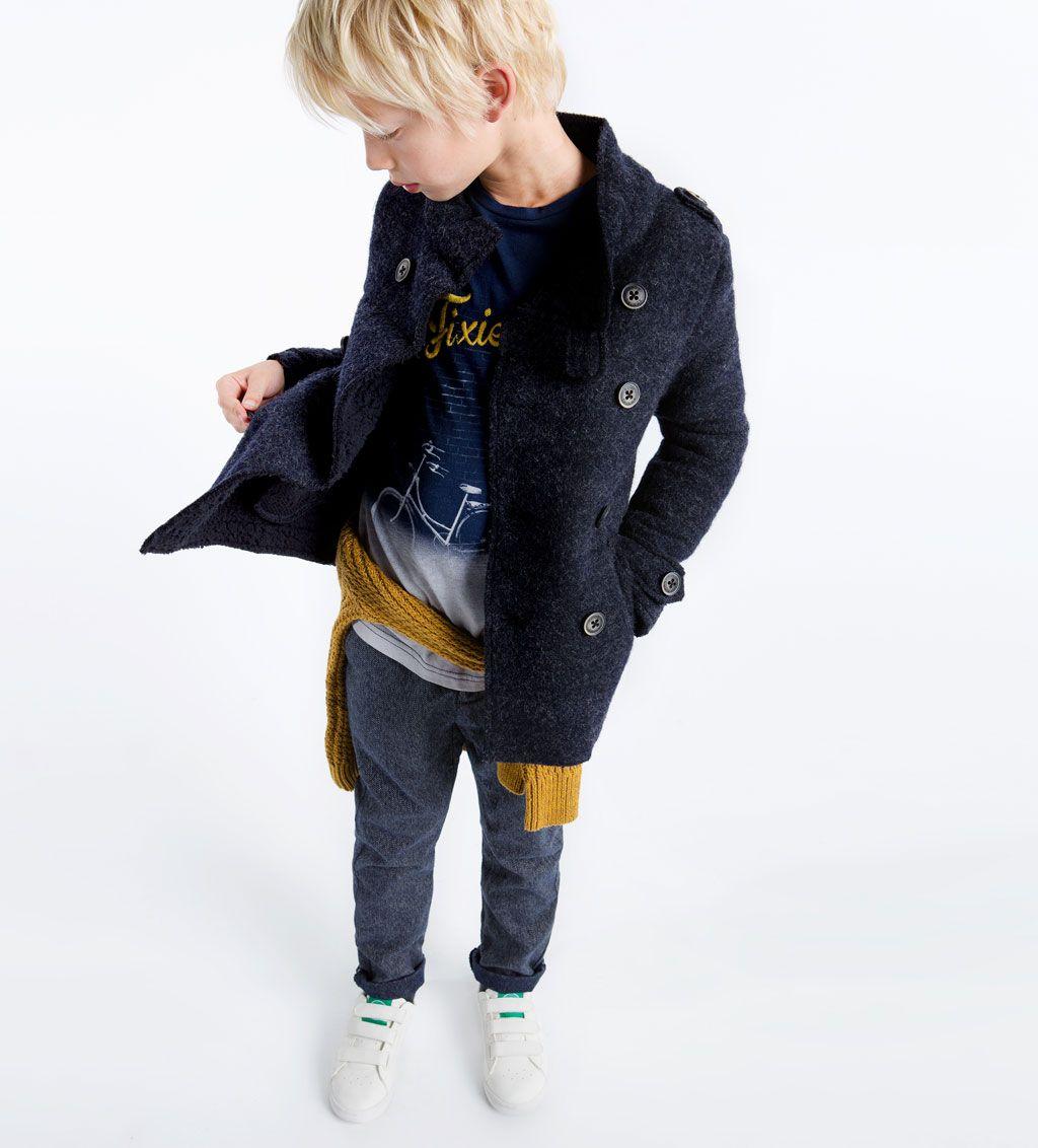 Zara enfants caban fourr boutonn drawingposes - Diseno ropa infantil ...