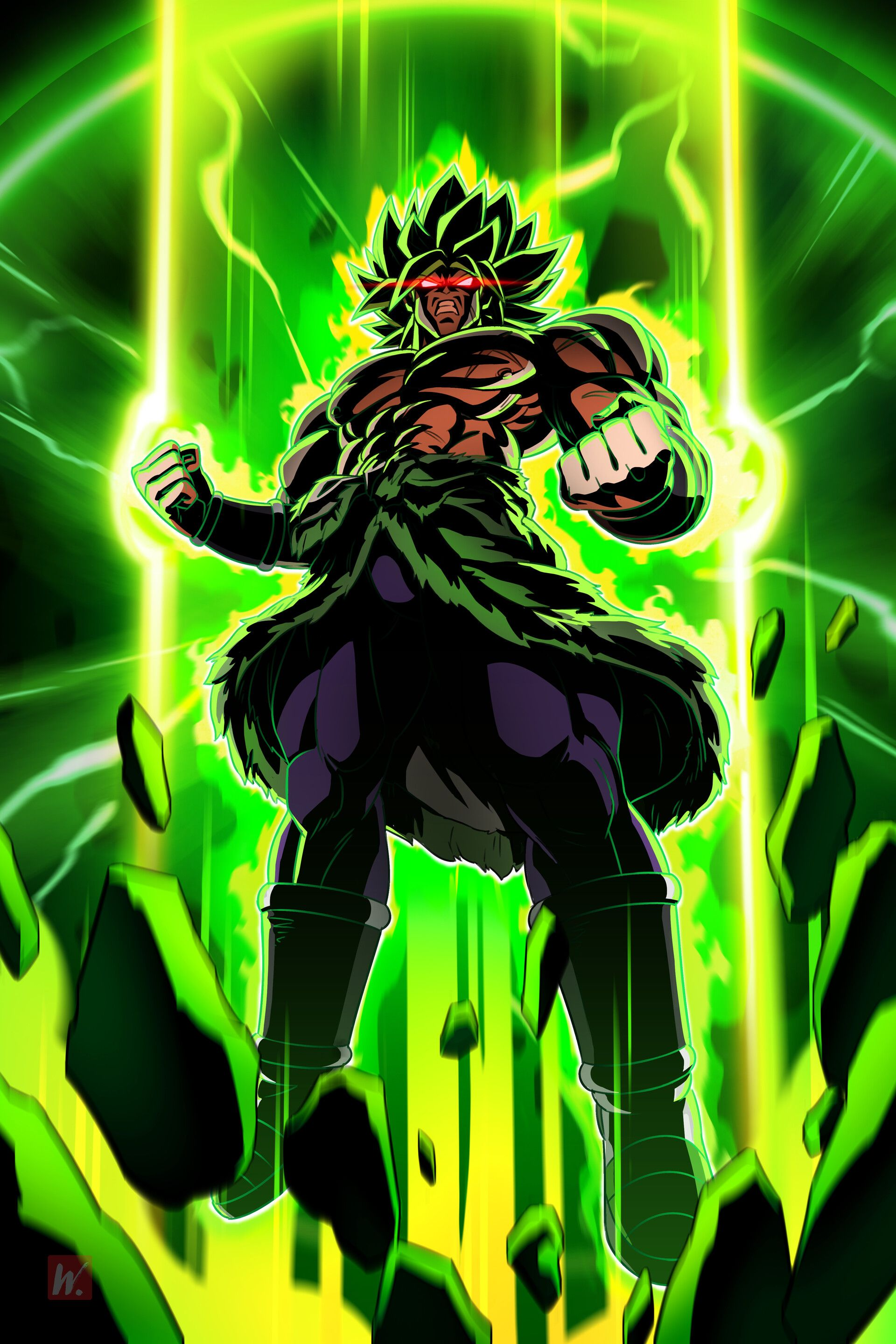 Artstation Broly William Liu Anime Dragon Ball Super Dragon Ball Artwork Anime Dragon Ball