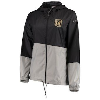 c2a88d6f3 Women s LAFC Columbia Black Flash Forward Full-Zip Windbreaker Jacket