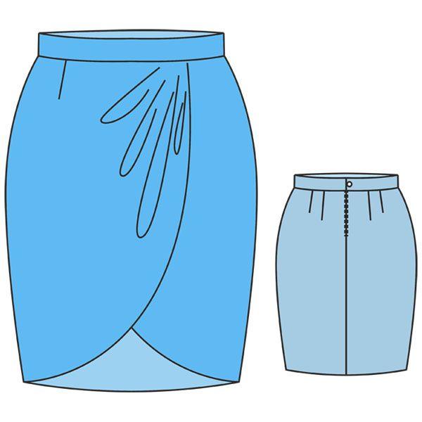 Юбка-тюльпан с запАхом. Выкройка.   юбка   Pinterest