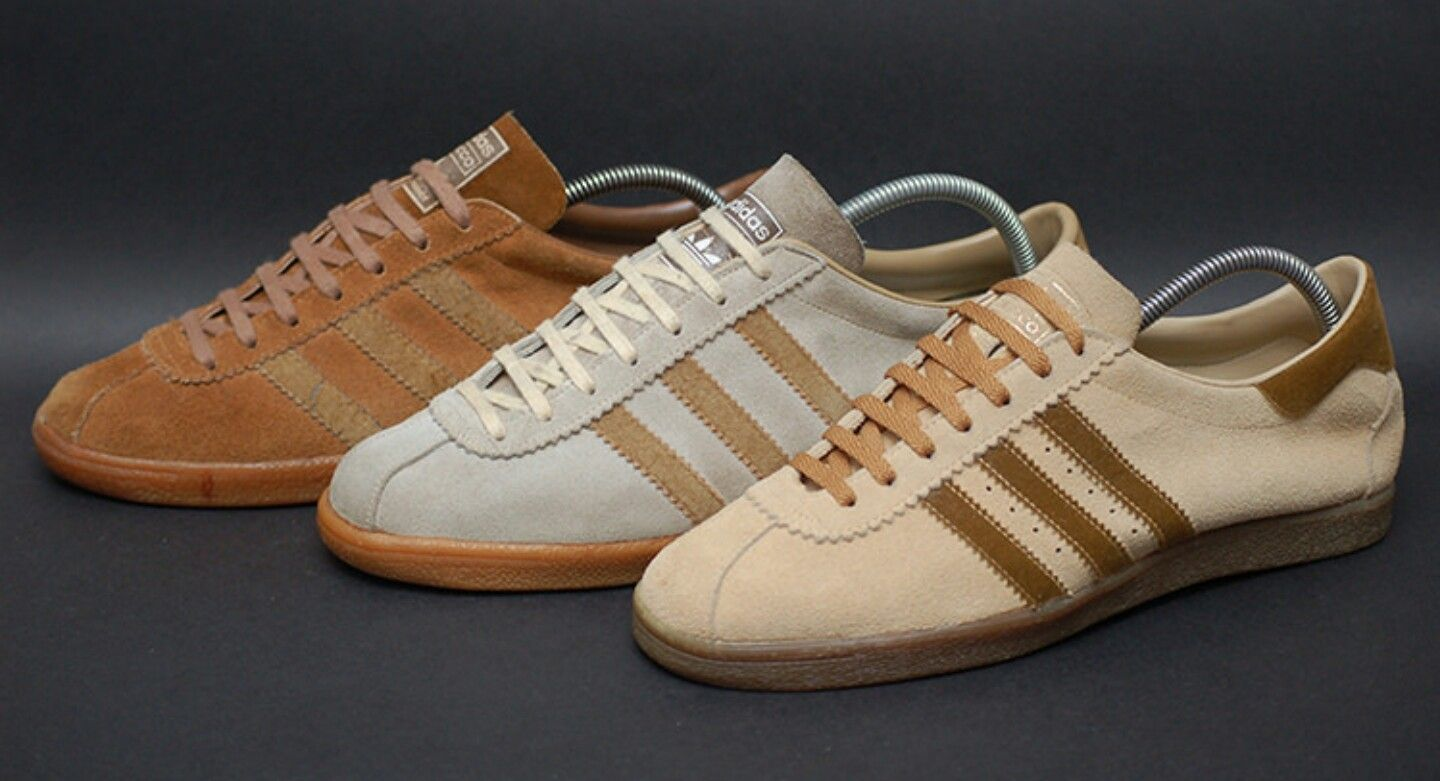 304b34949fa Adidas tobacco rivea debut 1972 before remake early 2000s