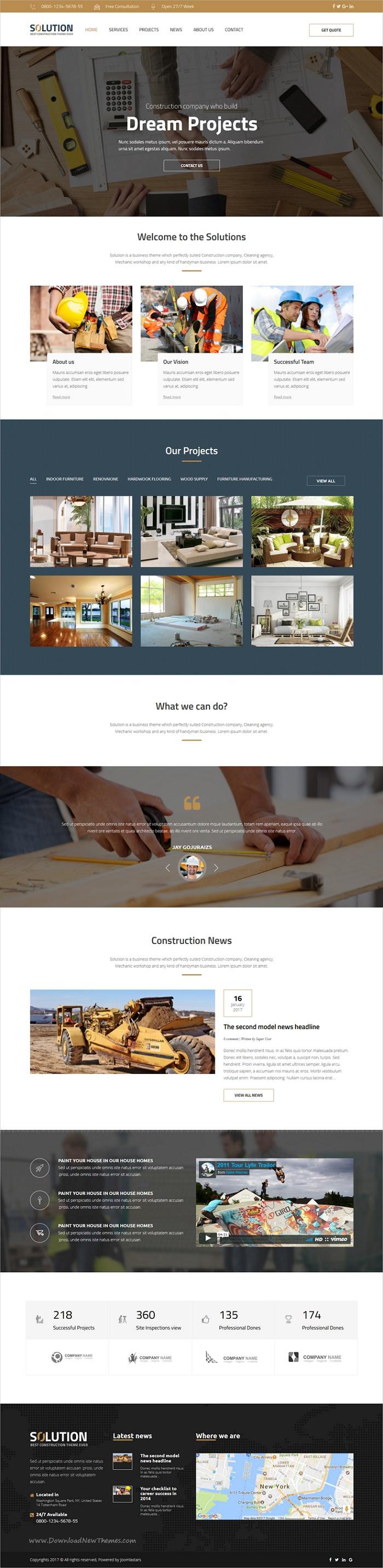 Solution - Multipurpose Small Business Joomla Theme