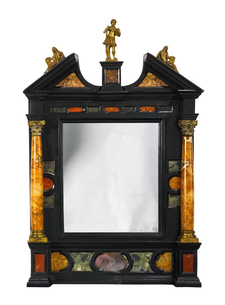 ITALIAN, TUSCANY, EARLY 17TH CENTURY TABERNACLE FRAME gilt bronze ...