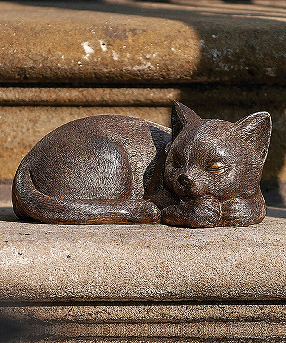 This Cat Garden Figurine by Roman is perfect! #zulilyfinds