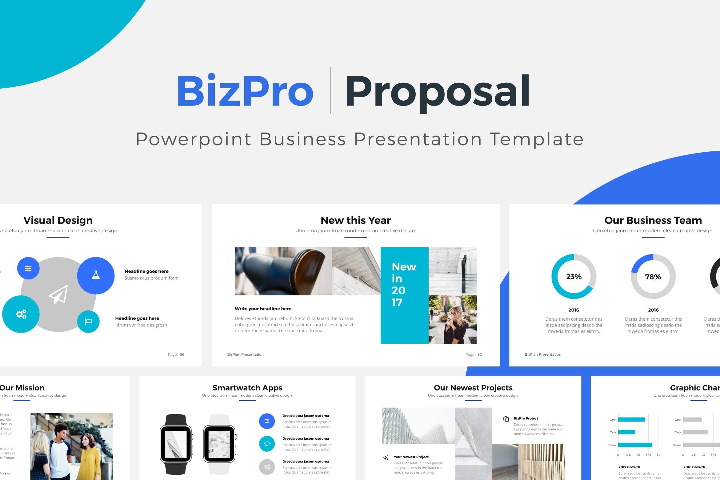 bizpro powerpoint proposal template presentation