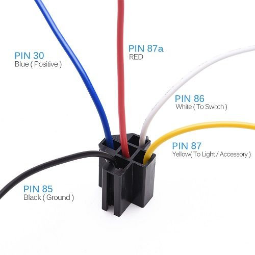 relay 4 pin automotive wire harness