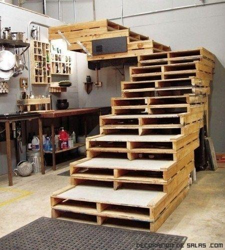Ideas para hacer mobiliario con materiales reciclados Huacales de - muebles reciclados