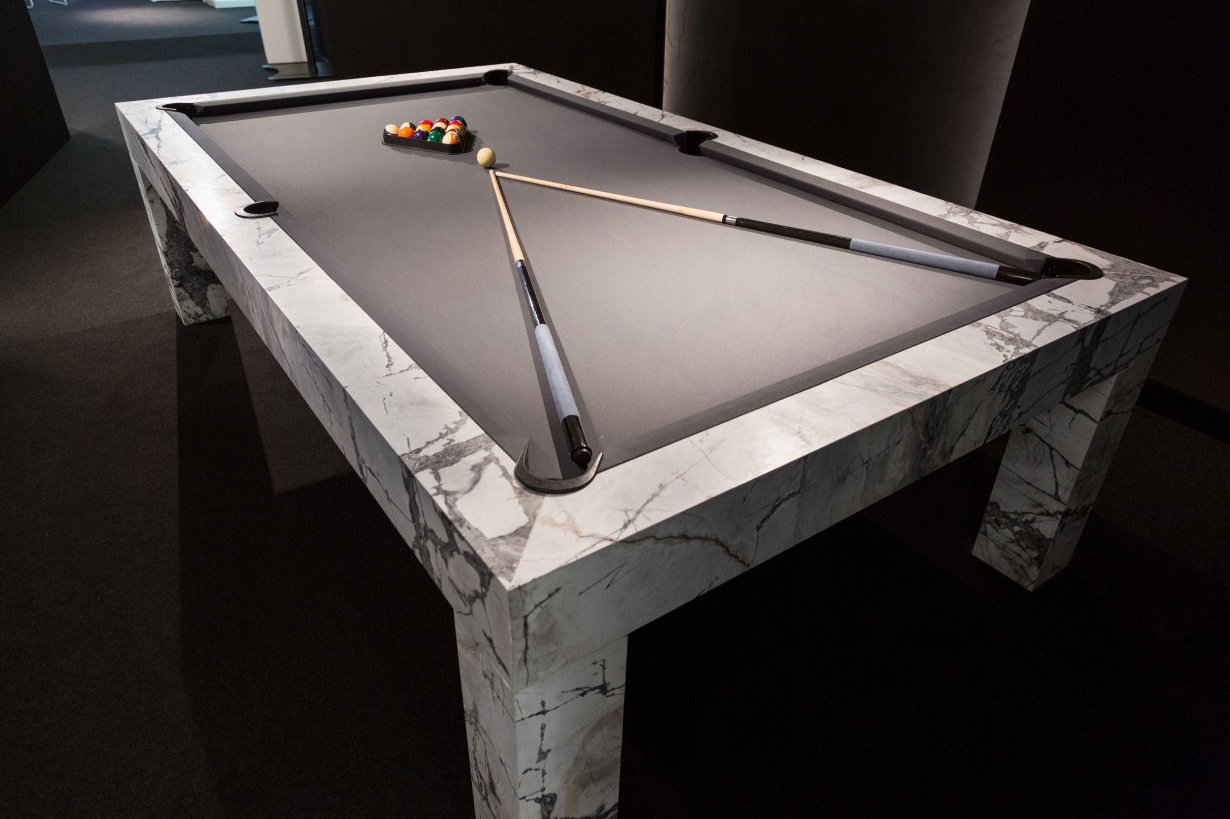 Elegant Marble Billiard In 2020 Billiard Pool Table Diy Pool Table Modern Pool Table