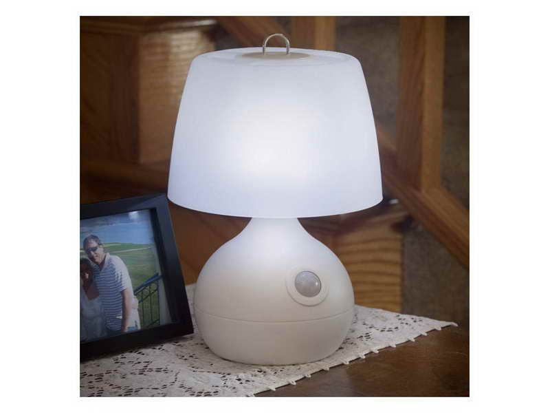 Offer Clic Beauty And Cur Style For Everyday Decor By Installing This White Wireless Motion Activated Table Lamp From Light It