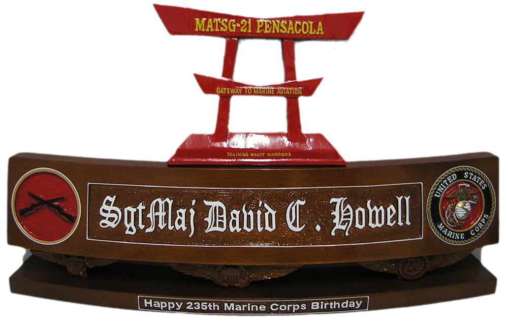Marine Corps Desk Name Plates  Desk Design Ideas