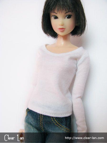 M-200911-64 basic white long sleeved t-shirt for all girls