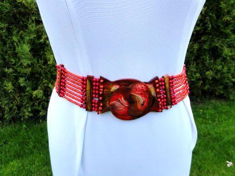 Czerwony Pasek Damski Romantyczna Przygoda Z Bali Fashion Allegro Belt