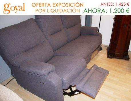 Liquidación: Sofá de 3 plazas con 2 asientos Relax Motor. http ...