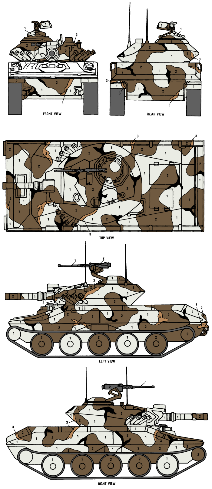 M551 Sheridan Merdc Snow W Open Terrain Camouflage Color Profile And Paint Guide Camouflage Colors Tanks Military Toy Tanks