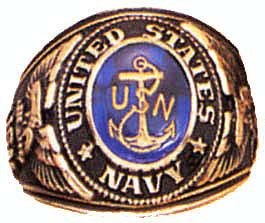 US Coast Guard Deluxe Engraved Gold Color Ring Size 14