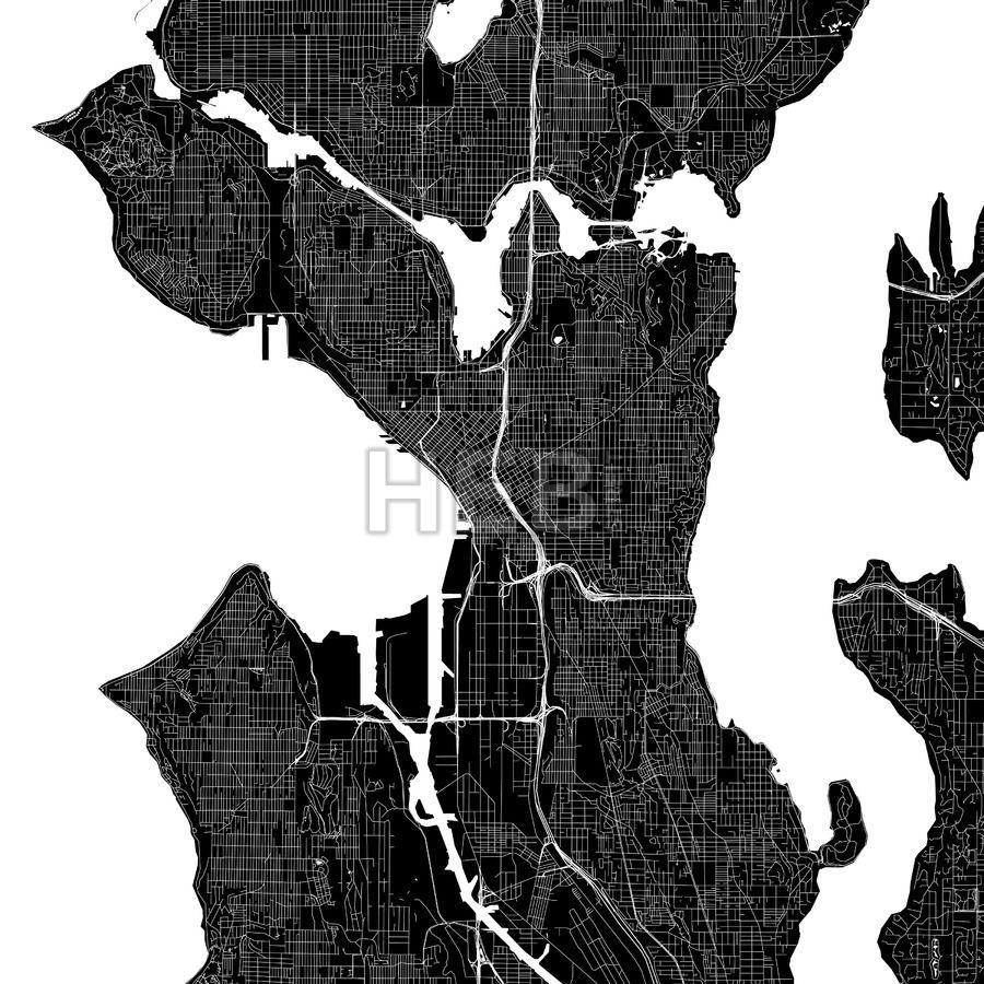 Seattle Usa Download Pdf Map Dawanda