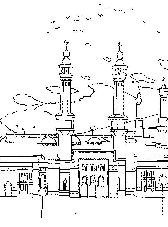 Eid Coloring Page For Kids | Family Holiday | For Kindergarden ...