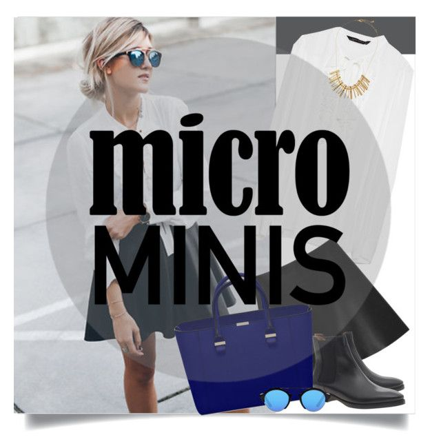 """New Trend: Micro Mini Skirts"" by samydorneles ❤ liked on Polyvore featuring Zara, Mulberry, Acne Studios, Illesteva and Jules Smith"