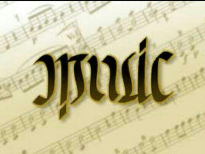 Music Ambigram
