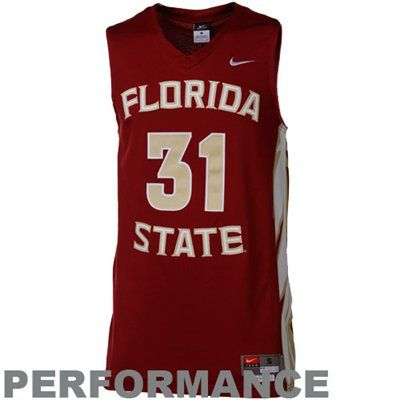 Nike Florida State Seminoles (FSU) #31 Tackle Twill Performance Basketball Jersey-Garnet