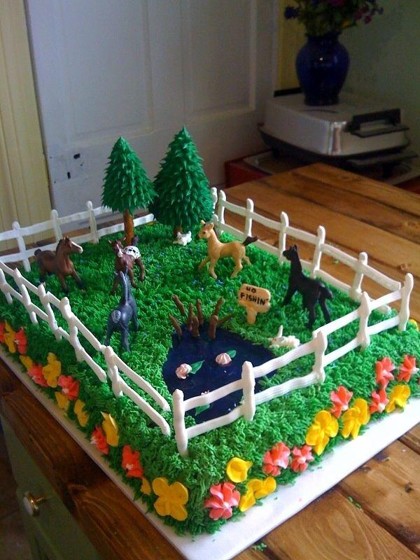 Kids Birthday Cakes Horse Lovers Party Kaitlyn Julianna Pinterest
