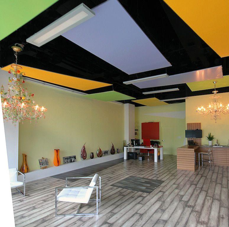 Ceiling - color block design | Toronto interior design ...