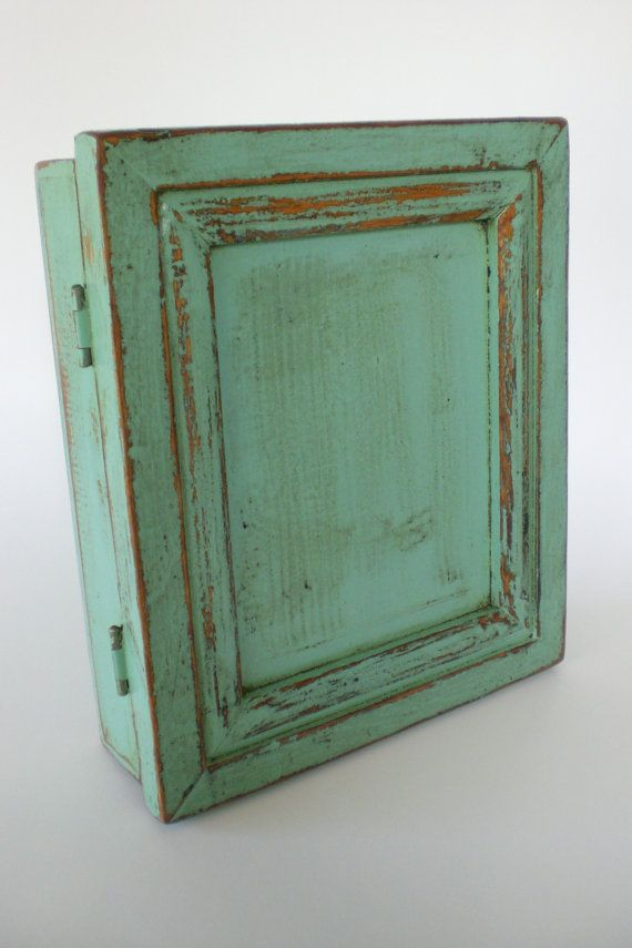 Primitive Vintage Key Cabinet Wooden Hanging by redshedvintage, $20.00 - Primitive Vintage Key Cabinet Wooden Hanging By Redshedvintage
