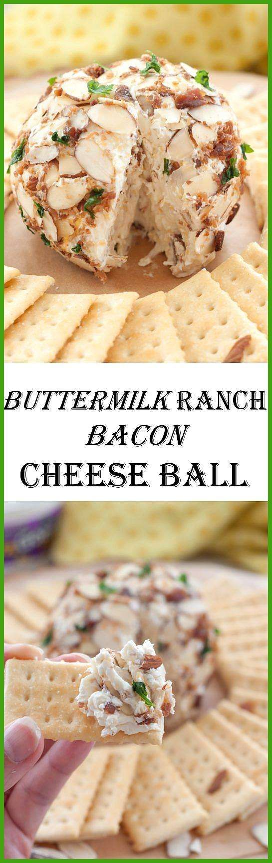 Buttermilk Ranch Bacon Cheese Ball appetierz non dairy holiday appetierz