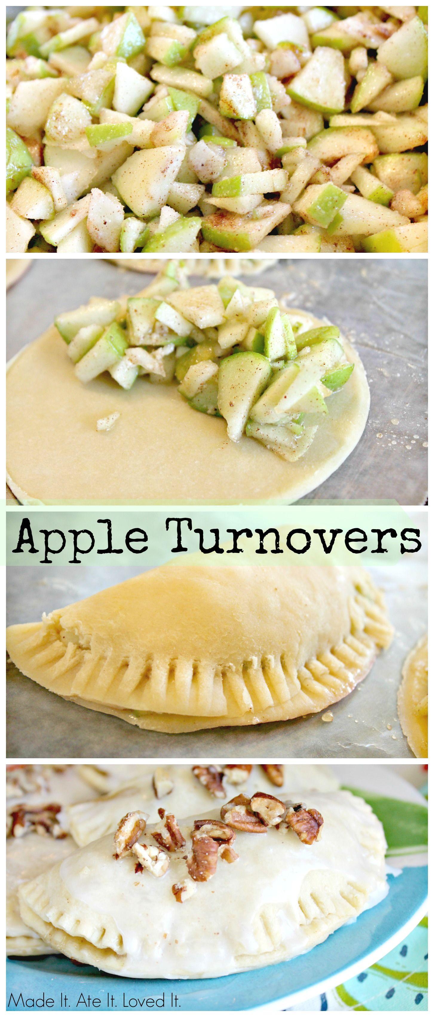 apple turnovers   Apple turnovers, Desserts, Sweet recipes