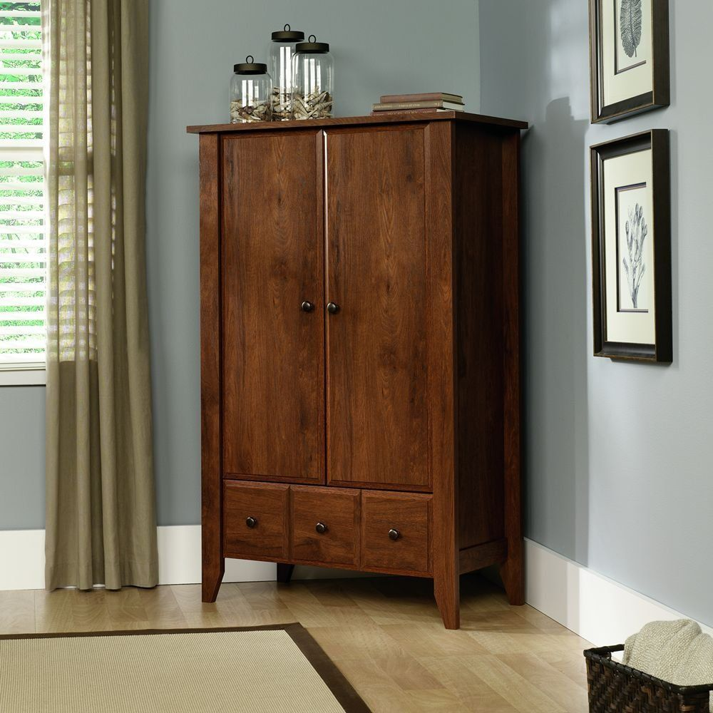 Amazon sauder shoal creek armoire oiled oak bedroom