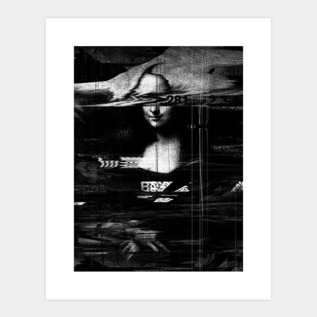 Mona Lisa Glitch Print By Nicebleed Fancy Com Glitch Art Nicebleed Glitch